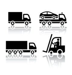 Set of transport icons - truck vector