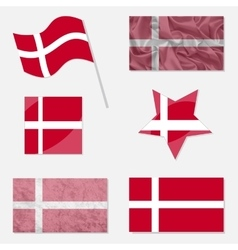 Set with Flags of Denmark vector image
