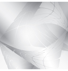 silver background with abstract figures vector image