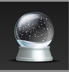 Snow globe with falling snowflakes vector
