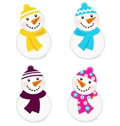snowmen collection vector image