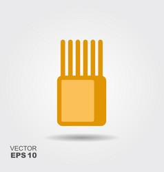 stylized image package spaghetti flat icon vector image