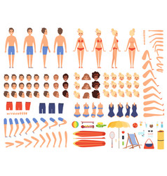 summer people creation kit collection body vector image