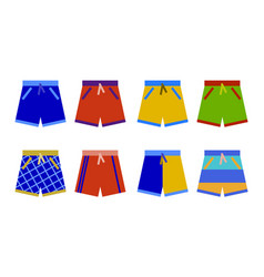 swim shorts collection swimming trunks set icon vector image