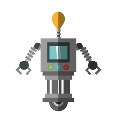 Technology robot bulb light display shadow vector
