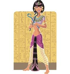 Tsarina of Egypt on light background vector image