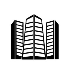 urban buildings towers icon icon simple element vector image