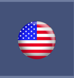 usa flag badge vector image