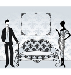 Vintage furniture vector image