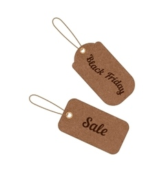 vintage sale tags from grunge cardboard vector image
