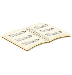 A music book vector image