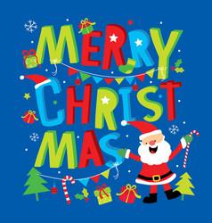 merry christmas cartoon vector image