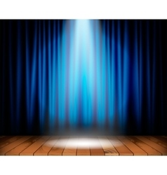Theater stage with wooden floor vector image vector image