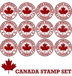 Canadian rubber stamps vector image