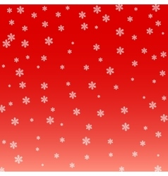 Christmas background White snowflakes on a red vector image vector image