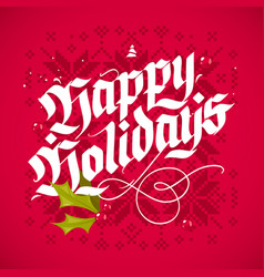 christmas lettering greeting card vector image vector image