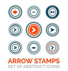 set of arrow stamps vector image