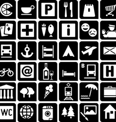 TouristIcons vector image