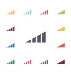 volume level flat icons set vector image
