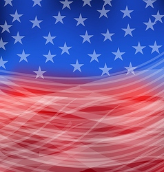 Abstract American Flag for happy 4th of july vector image vector image