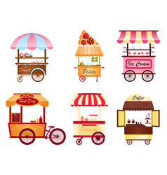 creative of street coffee cart vector image vector image