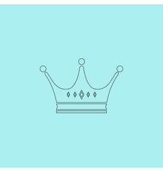 Crown icon vector