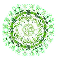 ethnic colorful ornament abstract green mandala vector image vector image