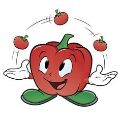 Juggling Tomato vector image