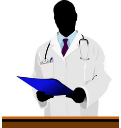 medical doctor with stethoscope vector image