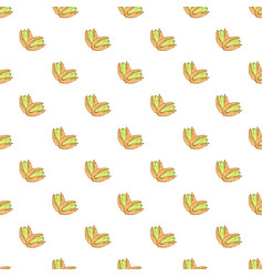 pistachio texture nuts seamless pattern ruit vector image