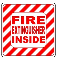 Sign of the fire extinguisher in isolated vector image
