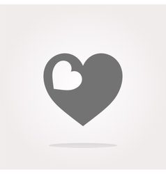 Valentine heart sign web button vector image vector image