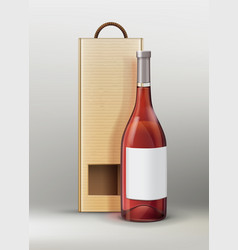 Bottle with packing vector