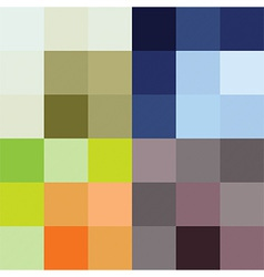 Checkered pattern four color options vector image