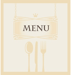 cutlery and a crown vector image vector image