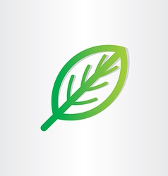 green leaf icon design vector image vector image
