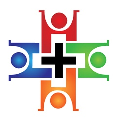 Medical teamwork logo vector