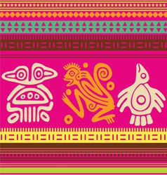 ornamental african style motive 03 vector image vector image