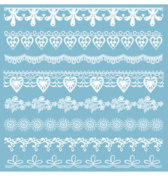 Set of lace ribbons vector image vector image