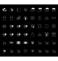 Set of Outline stroke Shopping icons vector image vector image