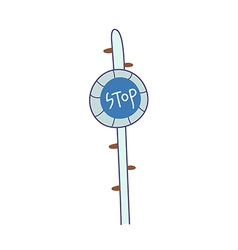The sign post vector image