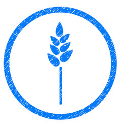 Wheat ear rounded grainy icon vector