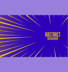 Abstract comic style speed zoom lines background vector