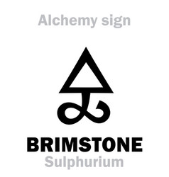 Alchemy brimstone sulfur sulphurium vector