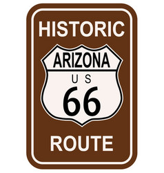 Arizona historic route 66 vector