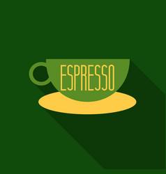 Authentic italian espresso vintage coffee poster vector