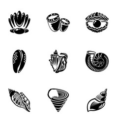 Barnacle icons set simple style vector