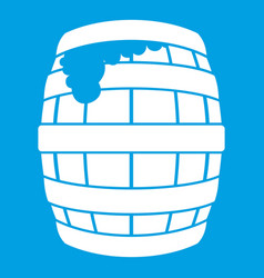 Barrel of beer icon white vector