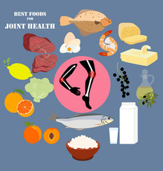 best foods for joint health vector image