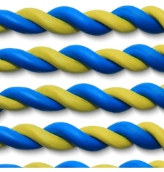 Blue yellow ropes vector image